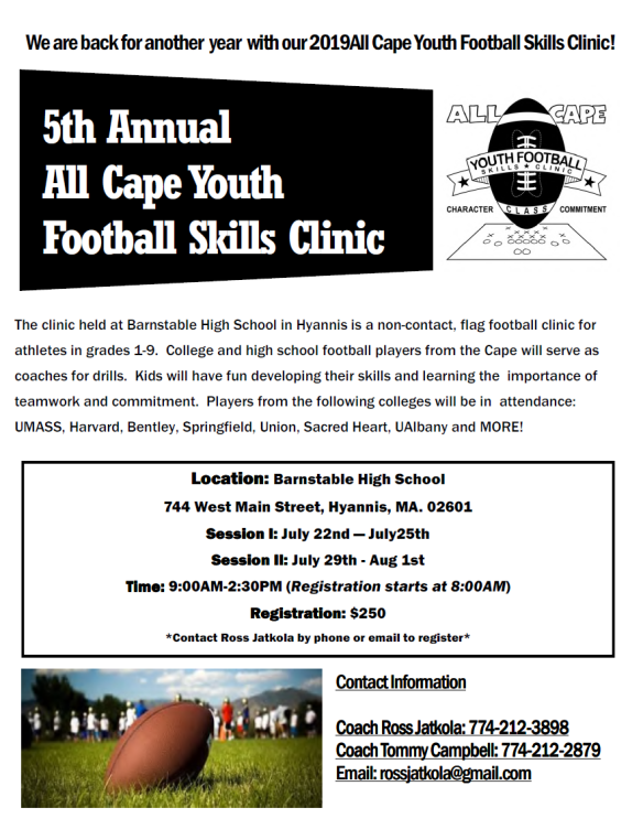 2019 All Cape Youth Football Clinic